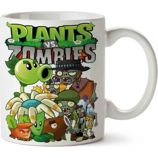 Art Hediye Plants Vs Zombıes Baskılı Kupa Bardak