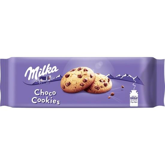 Milka Choco Cookies Çikolata Parçacıklı Bisküvi 168 gr