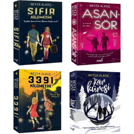 Sıfır - 3391 - Asansör - Kar Küresi 4 Kitap Set Beyza Alkoç