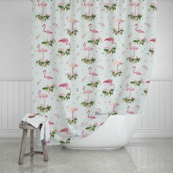 Zethome Evdy Banyo Duş Perdesi 9888 Çift Kanat 2 x 110 x 200