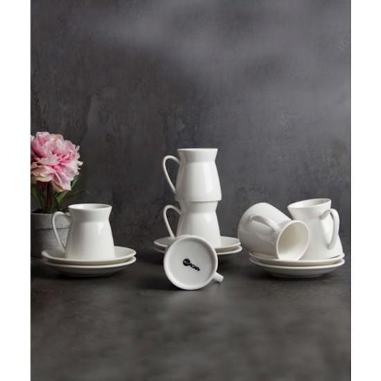 Acarlar PORJ-010133 Porselen 6lı Kahve Fincanı