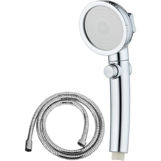 Brkyapı Brk Duş Başlığı Krom3 Sprey Ayarı Açık/kapalı Durak Anahtarı Uzayan Duş Spiral Hortumu ( 150-190CM)