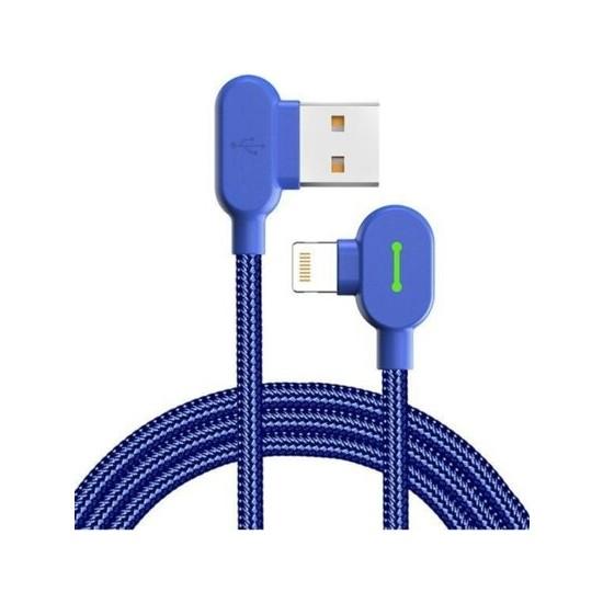 Mcdodo CA-4678 Lightining Şarj ve Data Kablosu 1.8m Mavi