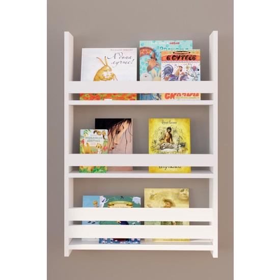 Montessori Çocuk Odası Eğitici Kitaplık 3 Raflı