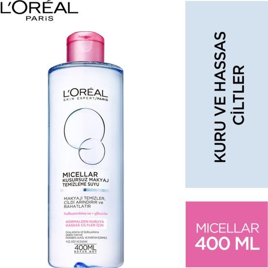 L'Oréal Paris Micellar Kusursuz Makyaj Temizleme Suyu Hassas 400ML