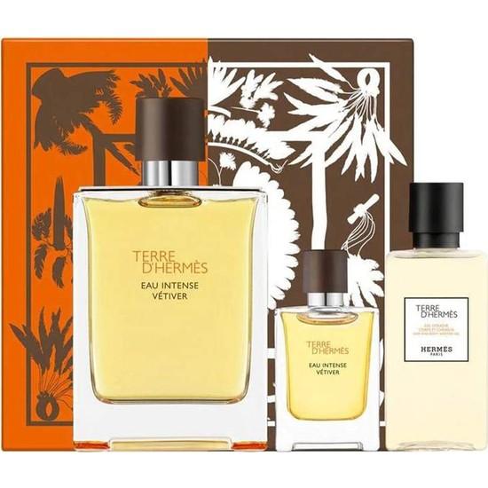 Hermes Terre D'hermes Eau Intense Vetiver Edp 100 ml + Mini 5 ml + Shower Gel 40 ml