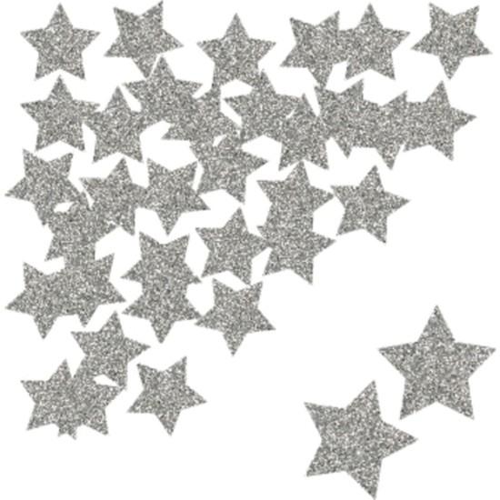 Gümüş Simli Asmalı Yılbaşı Çam Ağacı Yıldız Süs 27 Li Set
