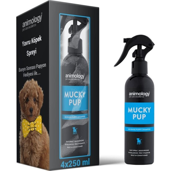 Animology Mucky Pup Yavru Köpek Krem Spreyi 4X250 ml