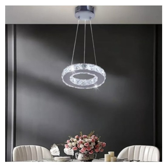 Burenze Luxury Modern Kristal Taşlı Sarkıt LED Avize Kumandalı 3 Renk BURENZE547