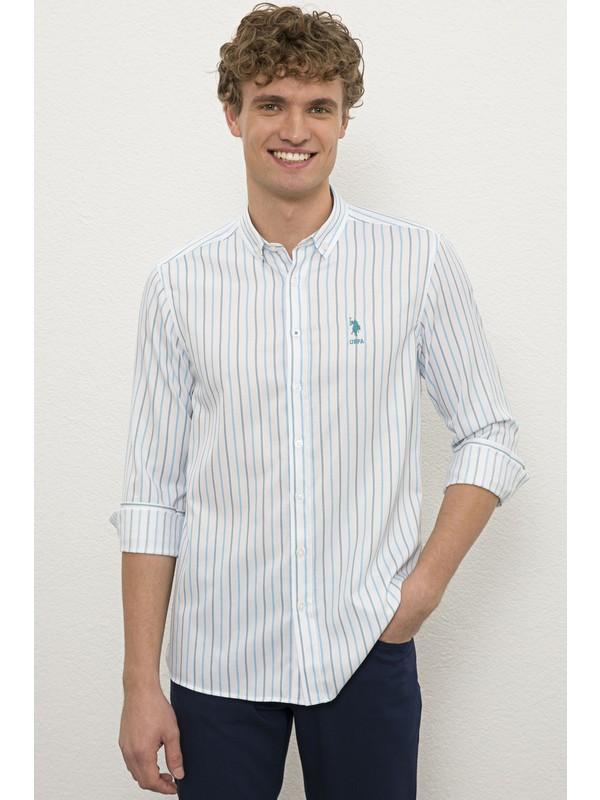 U.S. Polo Assn. Erkek Mavı Gömlek Uzunkol 50231298-VR036