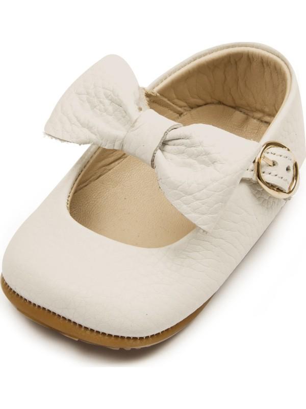 Ella Bonna Kız Bebek İlk Adım Ayakkabısı Bej 23