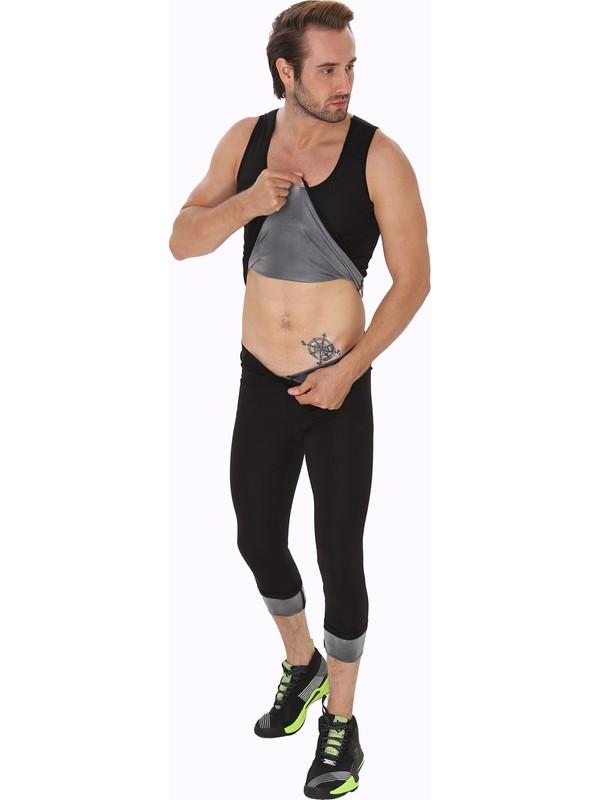 Giyincel Erkek Termal Polimer Tayt ve Atlet Ikili Takım XL