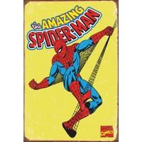 Atc Spiderman Marvel Retro Vintage Ahşap Poster 2030011