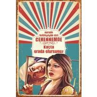 Atc Ah Nerede Yeşilçam Retro Vintage Ahşap Poster