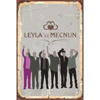Atc Leyla ile Mecnun Miniminal Retro Vintage Ahşap Poster