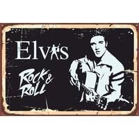 Atc Elvis Presley Retro Vintage Ahşap Poster
