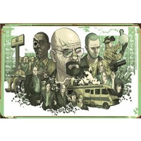 Atc Breaking Bad Sezon Retro Vintage Ahşap Poster