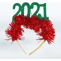 Süsle Bebek Parti Yılbaşı 2021 Simli Eva Taç Yeşil