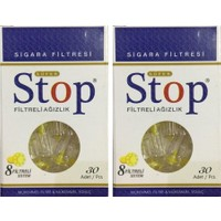 Stop Filtreli Ağızlık Sigara Filtresi 30'lu 2 Paket