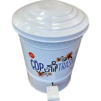 Yıldıray Metal Çöp Kovası 5lt Beyaz