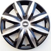 14'' İnç Chevrolet Jant Kapağı 4 Adet Çelik Jant Görünümlü Renkli Kırılmaz Esnek