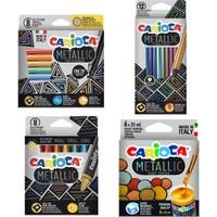Carioca Metalik Seri Kuruboya + Pastel Boya + Keçeli Boya + Guaj Boya 4'lü Set