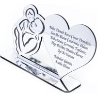 Meşgalem Babalar Günü Hediyesi Masaüstü Gümüş Pleksi İsimlik