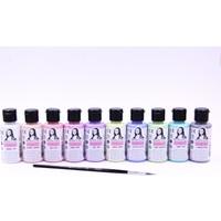 Monalisa Chalky Akrilik 40ML Pastel Renkler Set 10 Renk + Fırça