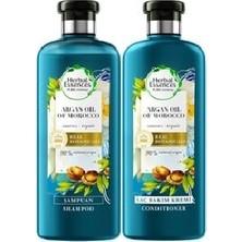 Herbal Essences Onarıcı Fas Argan Yağı 400 ml Şampuan + Saç Bakım Kremi 360 ml