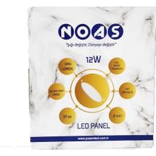 Noas LED Panel Armatür 12W 2'li
