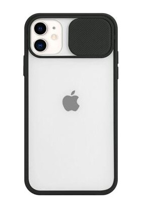 Cep Dünyası Apple iPhone 11 Kamera Lens Korumalı Sürgülü Kılıf