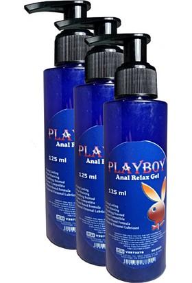 Playboy Anal Relax Gel 125 ml Anal Jel 3 Adet