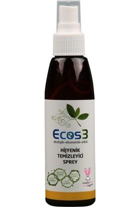Ecos3 Ekolojik Hijyenik Temizleyici Sprey 3'lü Set (3 x 125 ml)