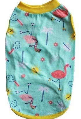 Pawstar Flamingo Kedi - Köpek Tişörtü