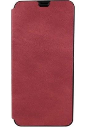 SmartBerry Samsung Galaxy A50 Kılıf Flip Kapaklı Kartlıklı Cüzdan + Nano Ekran Koruyucu Kırmızı