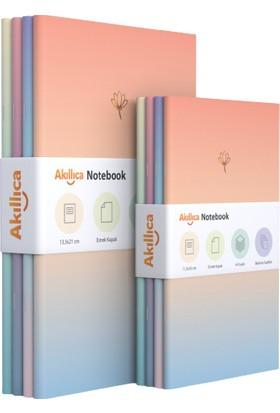 Akıllıca Defter Set Soft Pastel Notebook Gradient Serisi 8'li