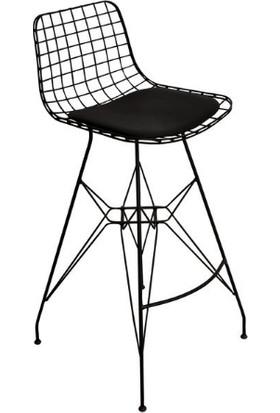 Kalista Bar Sandalyesi,tel Bar Sandayesi 2 Li 75 Cm, Mutfak, Cafe, Bahçe