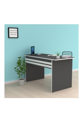 Kenzlife Ofis Masası Kohana 075*170*50 Gri Bilgisayar Çalışma Büro