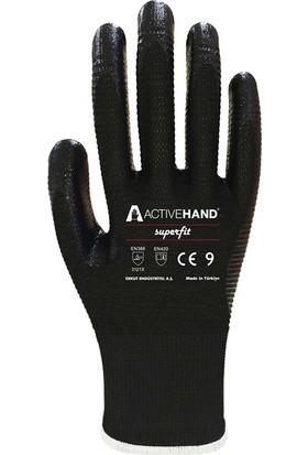 Active Hand Süperfit NT101 Nitril Kaplı Iş Eldiveni 10 Numara (10 Çift)