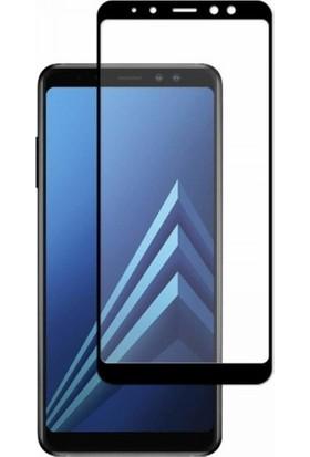 Herbütçeye Samsung Galaxy A7 2018 Tam Kaplayan Fiber Nano Ekran Koruyucu - Siyah