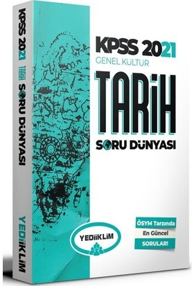 Yediiklim Yayınları 2021 KPSS Genel Kültür Tarih Soru Dünyası