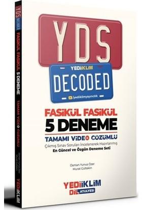 Yediiklim Yayınları YDS Decoded Tamamı Video Çözümlü Fasikül 5 Deneme - Murat Gültekin