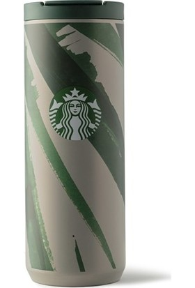 Starbucks® Klasik Seri Termos - Gri-Yeşil Renkli 473 ml