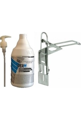 Biorad Alkol Bazlı Dezenfektanı 1000 ml Pompa - Duvara Monte Aparatı Set