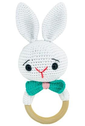 Aysun Yıldız Konbul Amigurumi Organik Örgü Çıngırak Tavşan