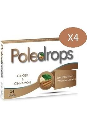 Deniz Pharma Poledrops Zencefil & Tarçın Pastil 24 Adet - 4 Kutu