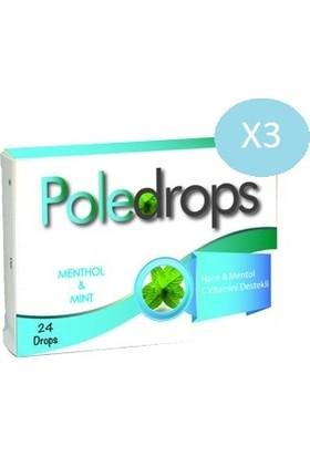 Deniz Pharma Poledrops Nane Mentol Pastil 24 Adet - 3 Kutu