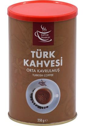 Kahve Tiryakisi Orta Kavrulmuş Türk Kahvesi 250 gr Teneke