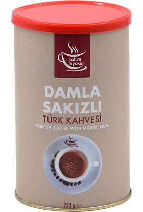 Kahve Tiryakisi Damla Sakızlı Türk Kahvesi 250 gr Teneke