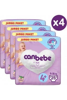 Canbebe Bebek Bezi Maxi 4+ Numara 100'LÜ Jumbo Paket